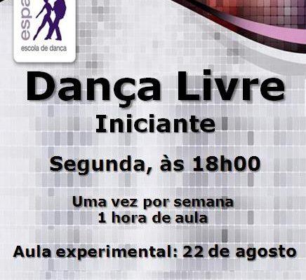 Dança Livre, segunda-feira, às 18h00 – Iniciante