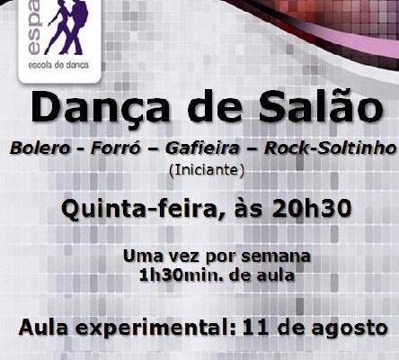 Dança de Salão – 5ª feira, às 20h30. Aula experimental 11/ago