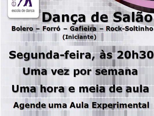 Dança de Salão (Bolero-Forró-Gafieira-Rock-Soltinho), 30/01/2017, segunda às 20h30