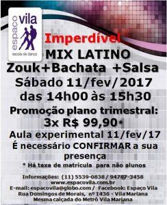 Mix Latino - Zouk-Bachata-Salsa-sáb.14h-15h30