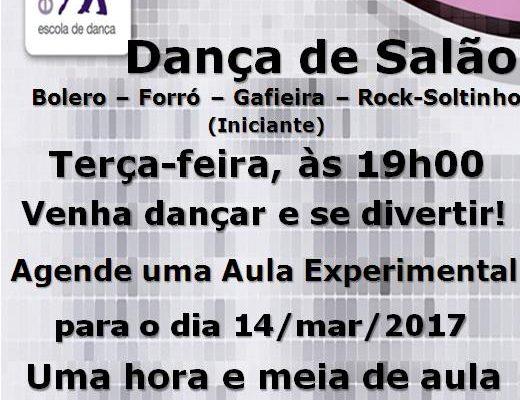 Faça a sua vida mais feliz, aprenda Dança de Salão! Hoje tem aula, às 19h00, agende uma aula experimental