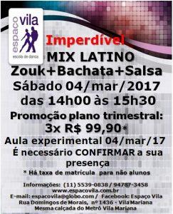 Mix Latino - Zouk-Bachata-Salsa-04.3.17.sáb.14h-15h30