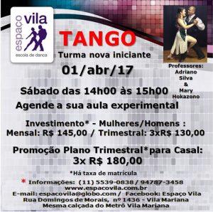 Tango sáb. às 14h00 - 01.abr.17