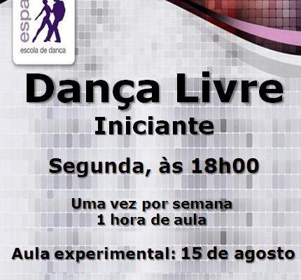 Dança Livre, Iniciante, segunda-feira, às 18h00