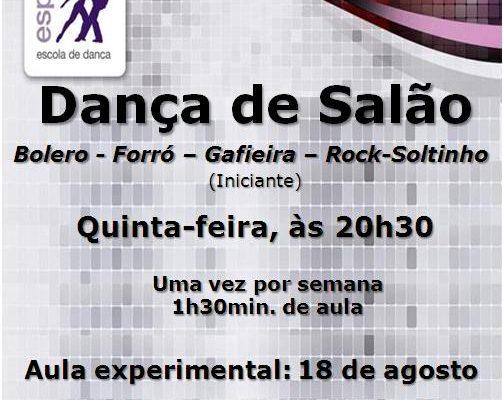 Dança de Salão (Bolero-Forró-Gafieira-Rock-Soltinho)-5ª feira, às 20h30-Iniciante