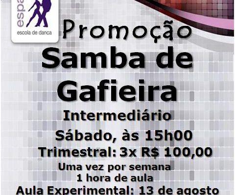 Samba de Gafieira – Intermediário- sábado às 15h00