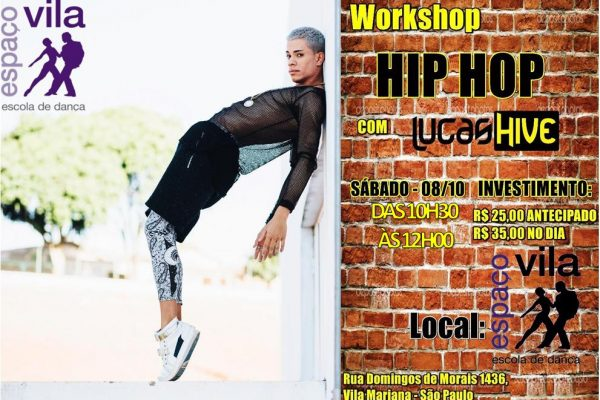 Workshop Hip Hop – com o Lucas Hive, 08/out/16, às 10h30