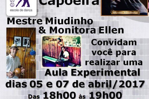 Novidade! Capoeira – Mestre Miudinho e  Monitora Ellen- 05/abr (qua) e 07/abr (sexta)